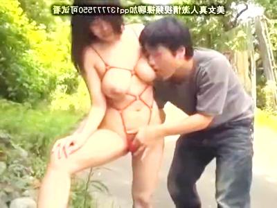 《☆西川りおん☆》「屋外で見せびらかして極イキ///」デカパイ美人が屋外で露わに…言われるままの性奴隷。。。